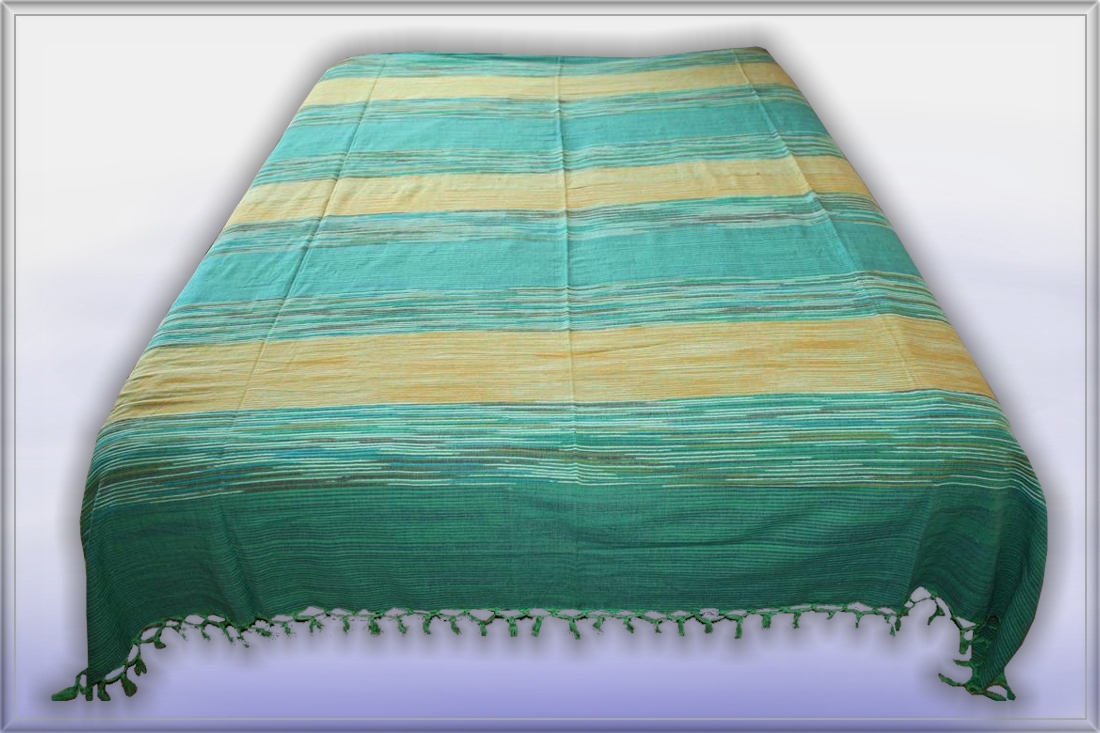 nepal gr n gelb starke xxl tagesdecke bett berwurf 22 ebay. Black Bedroom Furniture Sets. Home Design Ideas