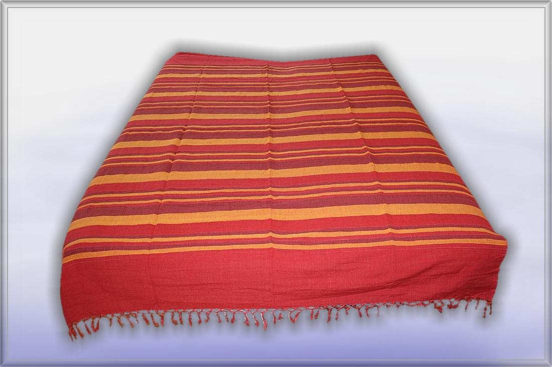 nepal rot orange starke tagesdecke bett berwurf decke. Black Bedroom Furniture Sets. Home Design Ideas