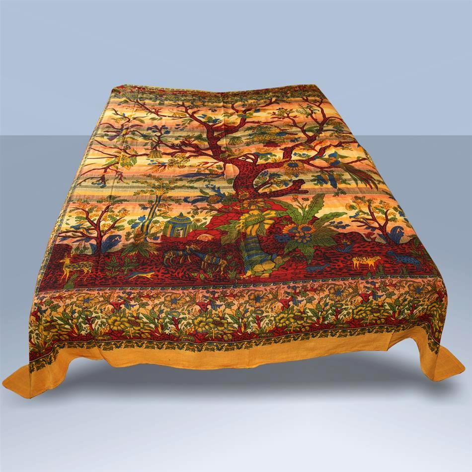 tagesdecke lebensbaum indien wandbehang dekotuch goa. Black Bedroom Furniture Sets. Home Design Ideas