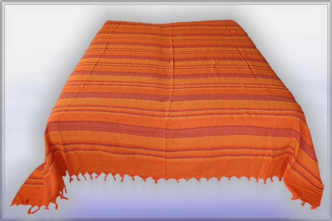 nepal orange starke tagesdecke bett berwurf indien 5 ebay. Black Bedroom Furniture Sets. Home Design Ideas