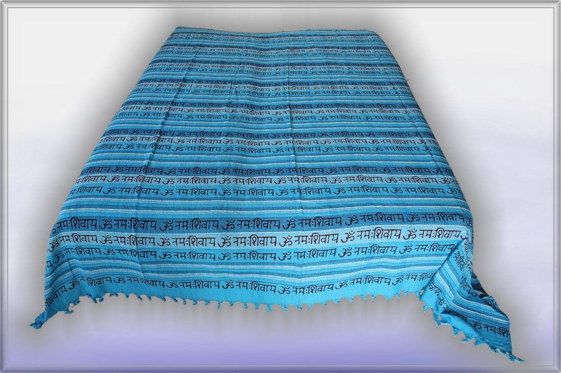 nepal mantra t rkis tagesdecke bett berwurf indien 79 ebay. Black Bedroom Furniture Sets. Home Design Ideas