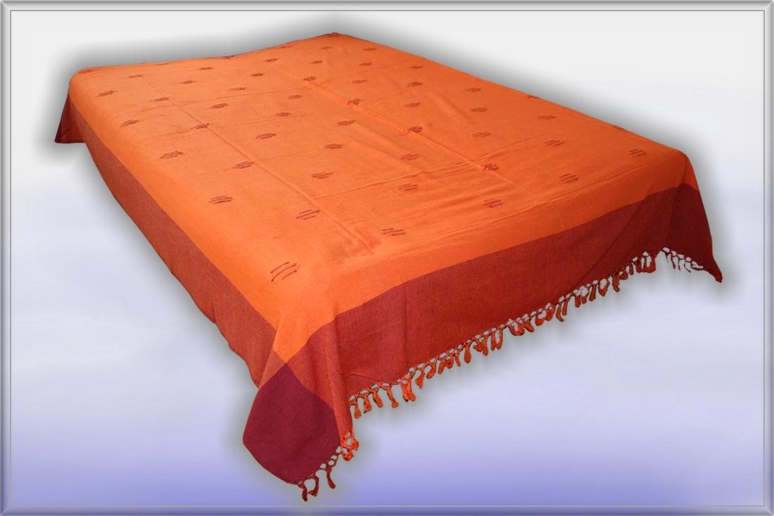 nepal classic tagesdecke bett berwurf rot orange 37 ebay. Black Bedroom Furniture Sets. Home Design Ideas