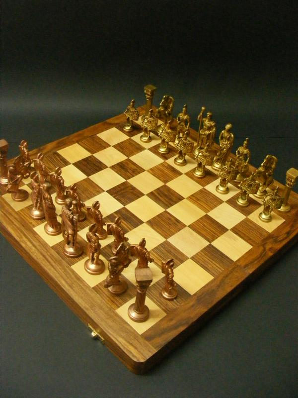 edel schachspiel schach messing kupfer figuren chess ebay. Black Bedroom Furniture Sets. Home Design Ideas