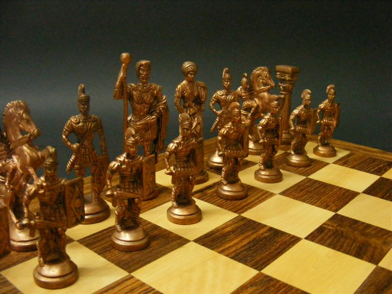 edel schachspiel schach messing kupfer figuren chess. Black Bedroom Furniture Sets. Home Design Ideas