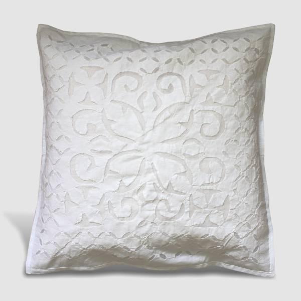 copricuscino ricamato cuscino fodera cuscino india rajasthan shabby chic bianco ebay. Black Bedroom Furniture Sets. Home Design Ideas