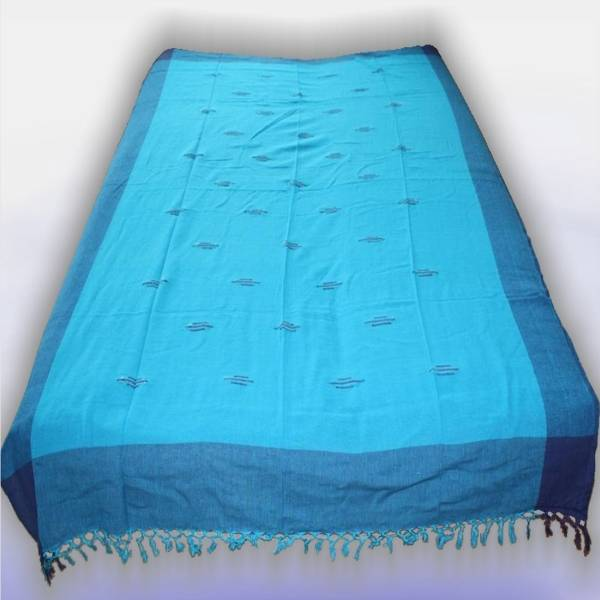 nepal classic tagesdecke bett berwurf blau azur indien 48. Black Bedroom Furniture Sets. Home Design Ideas