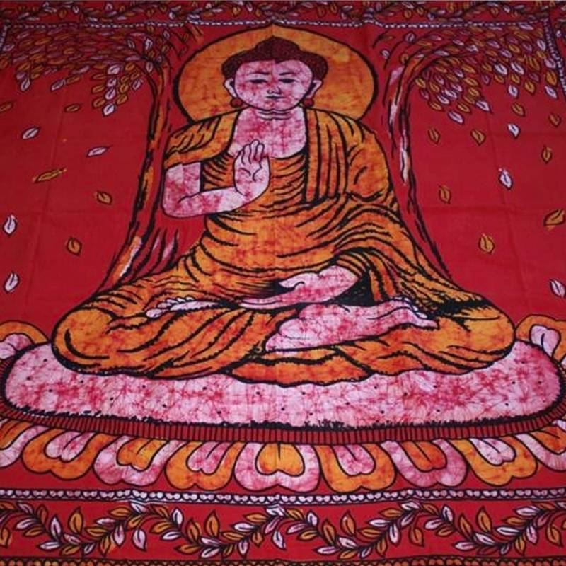 tagesdecke decorative towel buddha batik wall hanging. Black Bedroom Furniture Sets. Home Design Ideas