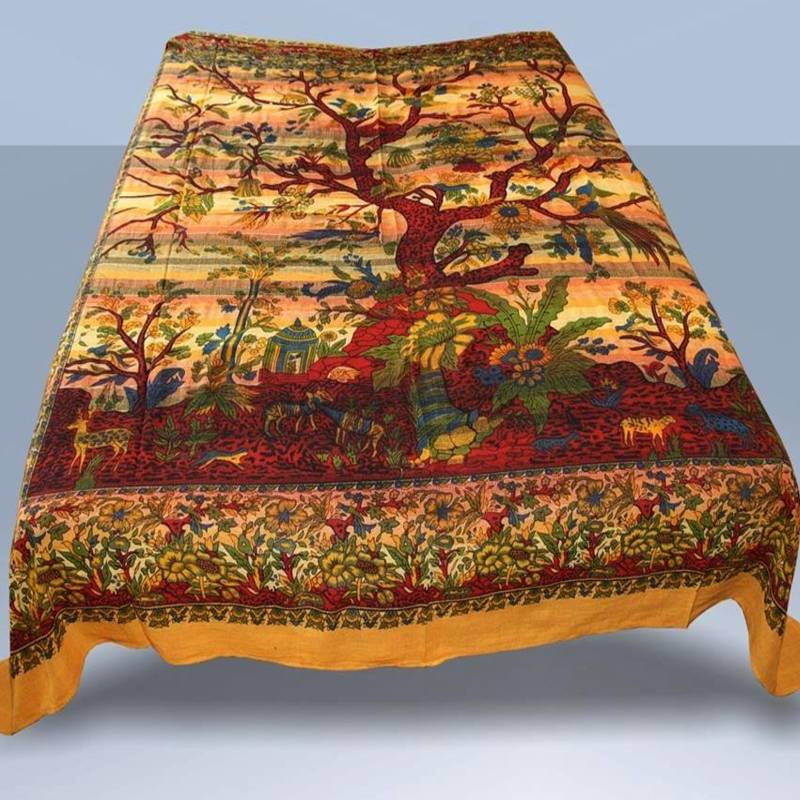 bedspread tree of life india wall hangings decorative. Black Bedroom Furniture Sets. Home Design Ideas