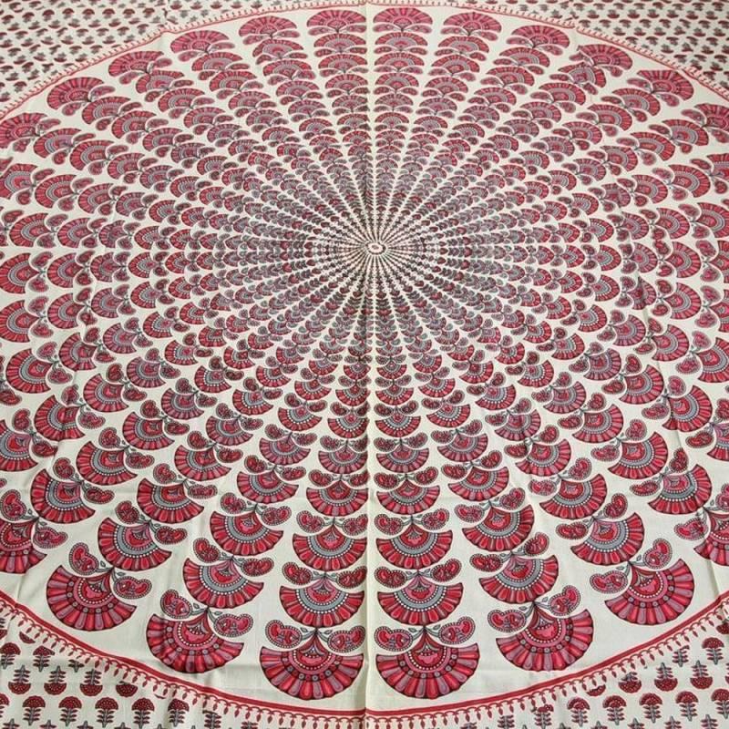 Couvre lit paon mandala inde tapisserie d coration murale for Decoration murale mandala