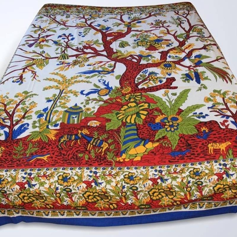batik bedspread tree of life bedspread tree of life india. Black Bedroom Furniture Sets. Home Design Ideas