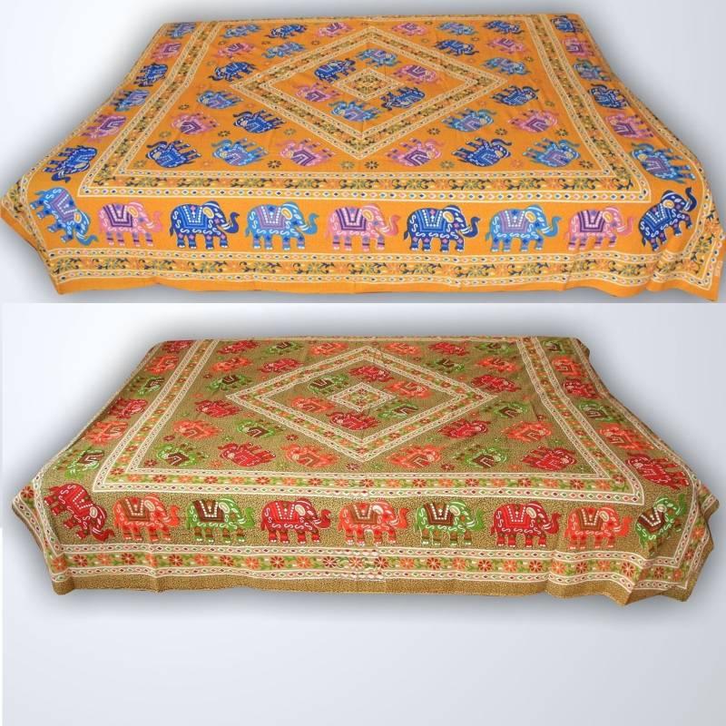 Tagesdecke-Bunte Elefanten-Bettüberwurf Rajasthan-Decke Tuch Goa