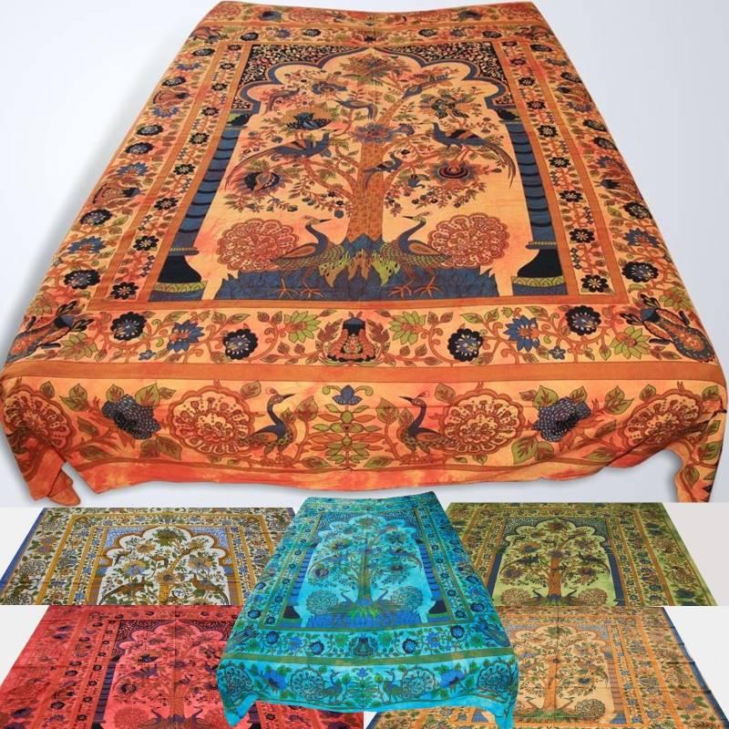 couvre lit mogul tree m r oriental thuya arbre de vie jetez inde ebay. Black Bedroom Furniture Sets. Home Design Ideas