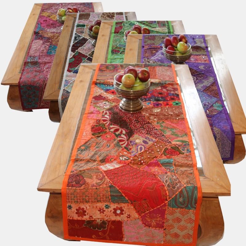 orient tischl ufer indien patchwork tischdecke wandbehang l ufer rajasthan. Black Bedroom Furniture Sets. Home Design Ideas