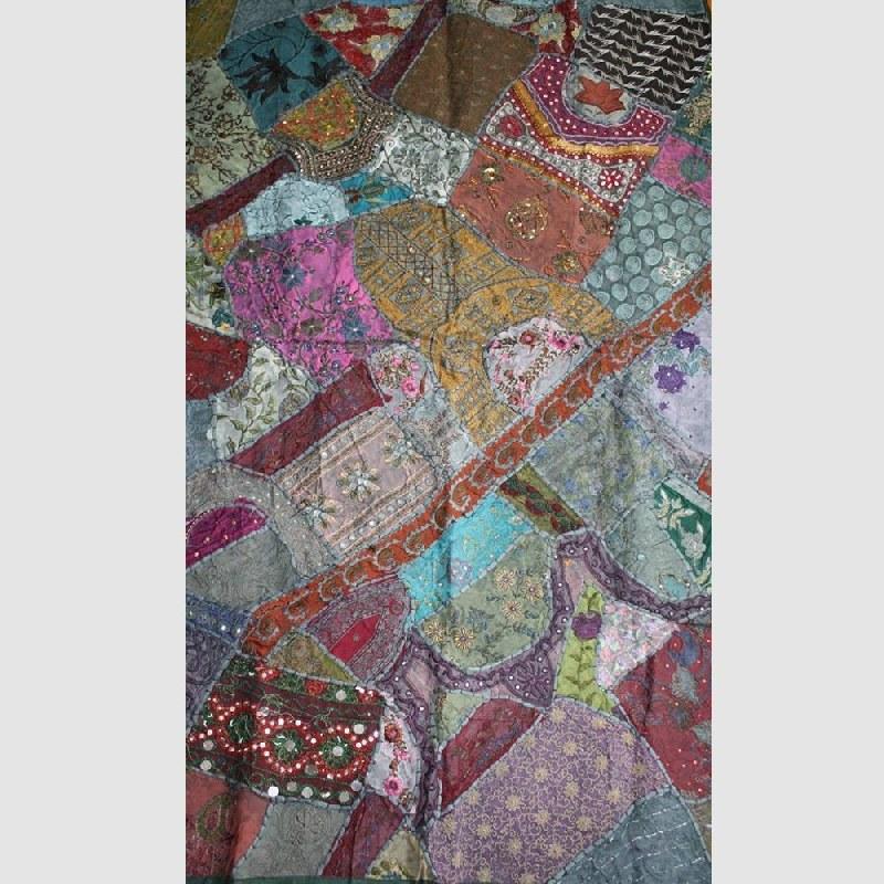 Wandteppich rajasthan indien wandbehang tischl ufer - Wandbehang patchwork ...